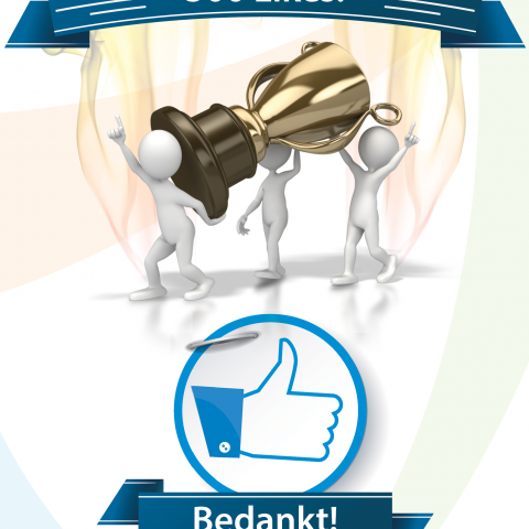 500 Likes op FaceBook voor Fysiotherapie Groningen Oosterpark Gorechtkade